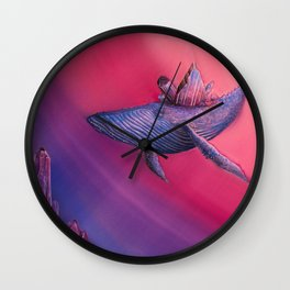 Crystal Whale Wall Clock