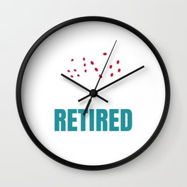 Retired Time to gamble Wall Clock
