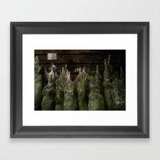 Surface Tension: Christmas Trees Framed Art Print