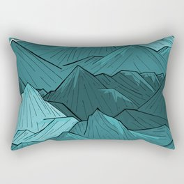 The Turquoise Mounts Rectangular Pillow
