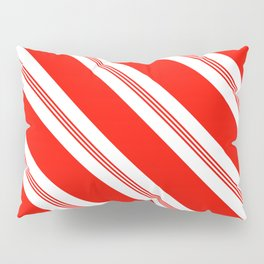 Candy Cane Stripes Holiday Pattern Pillow Sham