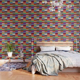 Accordion Fold Series Style J Patchwork Wallpaper