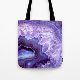 Purple Lavender Quartz Crystal Tote Bag