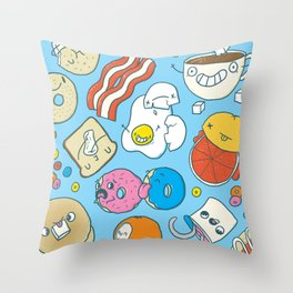 Most Important Meal of the Day Throw Pillow