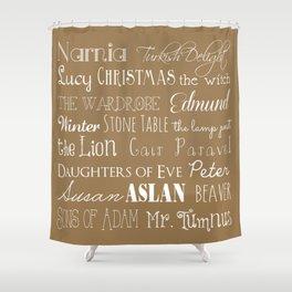 Narnia Celebration - Tortilla Shower Curtain