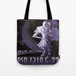 PSO J318.5-22 : NASA Retro Solar System Travel Poster Tote Bag