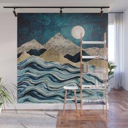 Indigo Sea Wall Mural