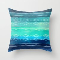 aelwen Throw Pillows featuring ocean by spinL