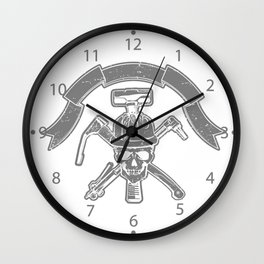 Death construction worker Wall Clock