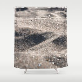 Sand in april Shower Curtain