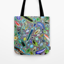 Feathers of birds of the world Tote Bag