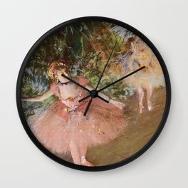 Dancer On Stage By Edgar Degas | Reproduction | Famous French Painter Wall Clock