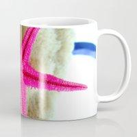 starfish Mugs featuring STARFISH by habish