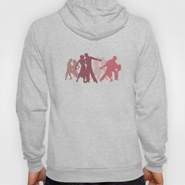 Latin Dancers Illustration Hoody