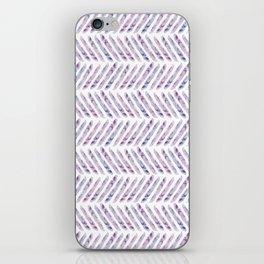 Herringbone - in purple watercolour iPhone Skin