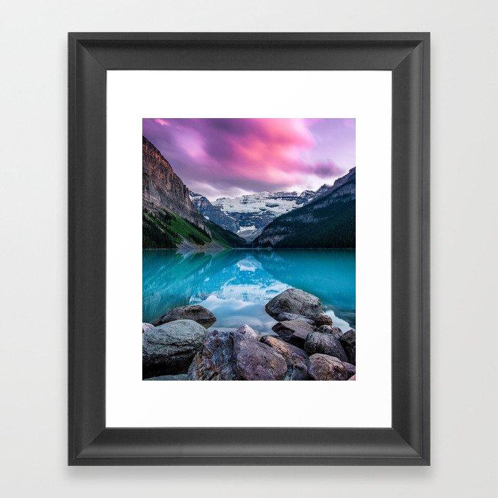 Lake Louise Gerahmter Kunstdruck