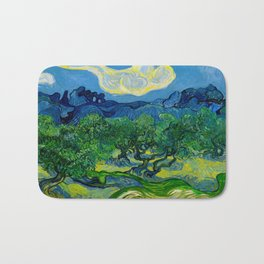 Olive Trees by Vincent Van Gogh Oil Painting Bath Mat