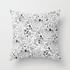 Seinfeld Pattern (White Background) Throw Pillow
