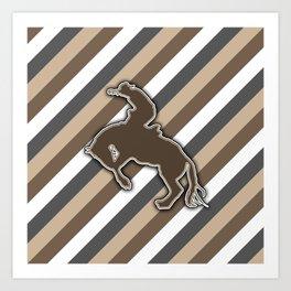 Cowboy Rodeo Bucking Horse Design Art Print