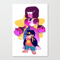 johannathemad Canvas Prints featuring steven and his stand by JohannaTheMad