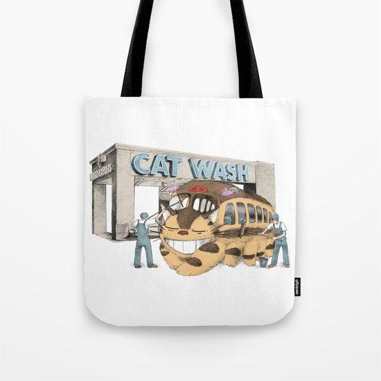 Cat Wash Tote Bag