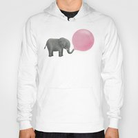 pop Hoodies featuring Jumbo Bubble Gum  by Terry Fan