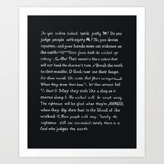 Psalm 58 Art Print