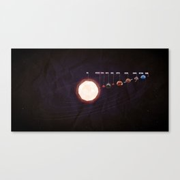Low Poly Space Canvas Print