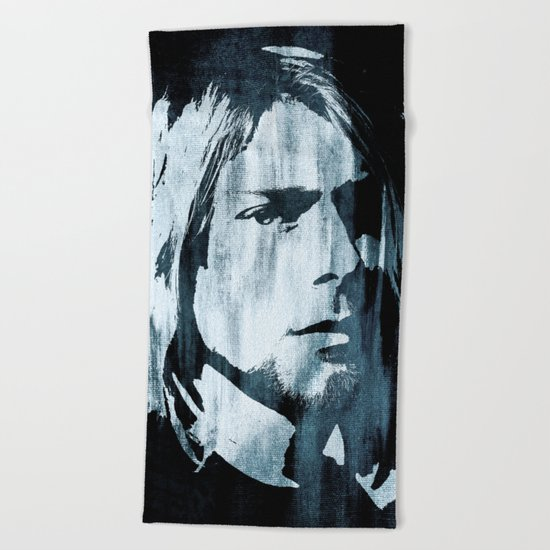 Kurt# Cobain#Nirvana Beach Towel