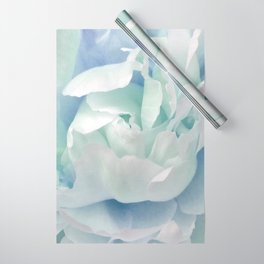Peony in Blue White Wrapping Paper