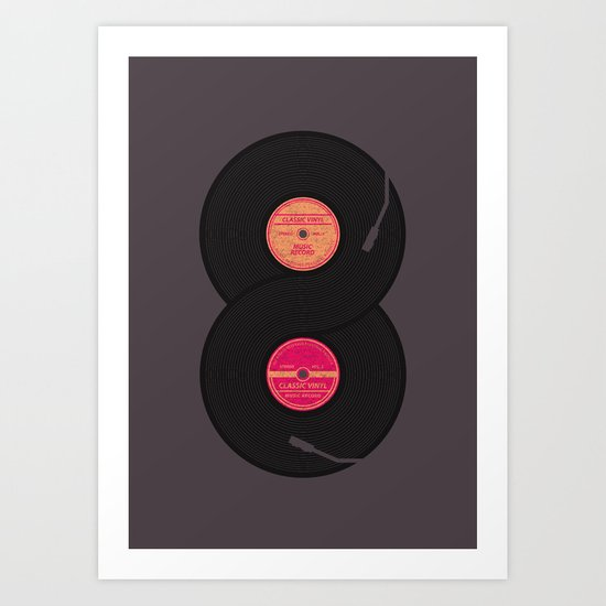 infinity vinyl records Art Print