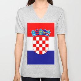 Flag of Croatia Unisex V-Neck