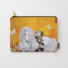 Wonderful unicorn with fairy Carry-All Pouch