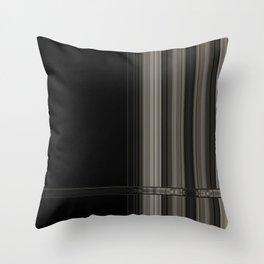 Modern Black Ribbon Pattern Design Throw Pillow