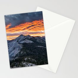 Firey Yosemite Sunrise Stationery Cards