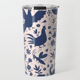Otomi ink on blush Travel Mug
