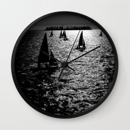 Sailing Silhouettes Wall Clock