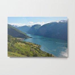 Fjords | Aurland, Norway Metal Print