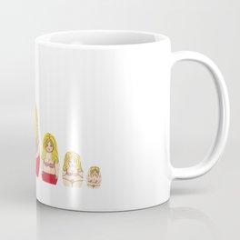 Blonde Burlesque stripper doll Coffee Mug