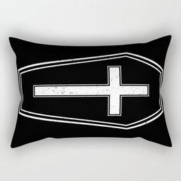 Classic Horror Distressed Gothic Coffin Rectangular Pillow
