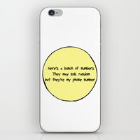 numbers iPhone & iPod Skins featuring Numbers by Alexia Rose