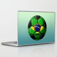 brasil Laptop & iPad Skins featuring Brasil Ball by kuuma
