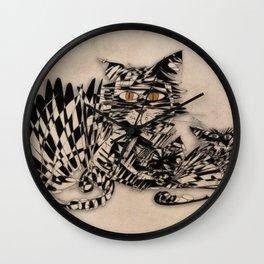 3 cats esoflowizm art Wall Clock
