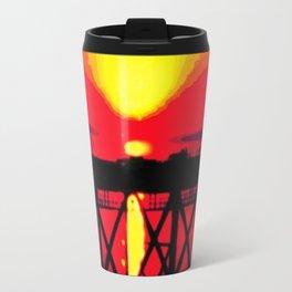 Sunset On The Bay Bridge Travel Mug