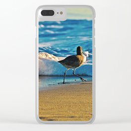 Modern Dee Dee At The Beach Clear iPhone Case
