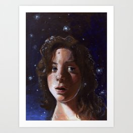 Delia, Fine Art Oil Painting Portrait Print Art Print