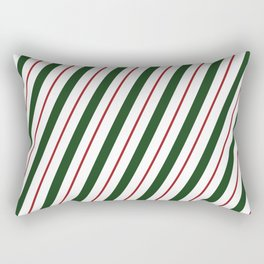 Peppermint Candy Cane Rectangular Pillow