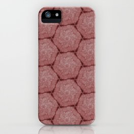 Floral Hexagons in Red iPhone Case