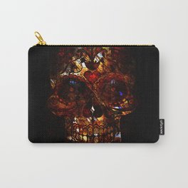 Day of the Dead Skull Death Mask Design Carry-All Pouch