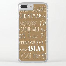 Narnia Celebration - Tortilla Clear iPhone Case
